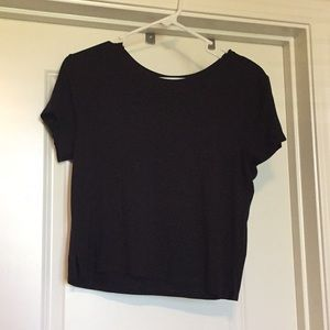 Soft Black Cropped Tee
